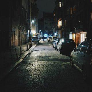 molesztálás, sötét utca